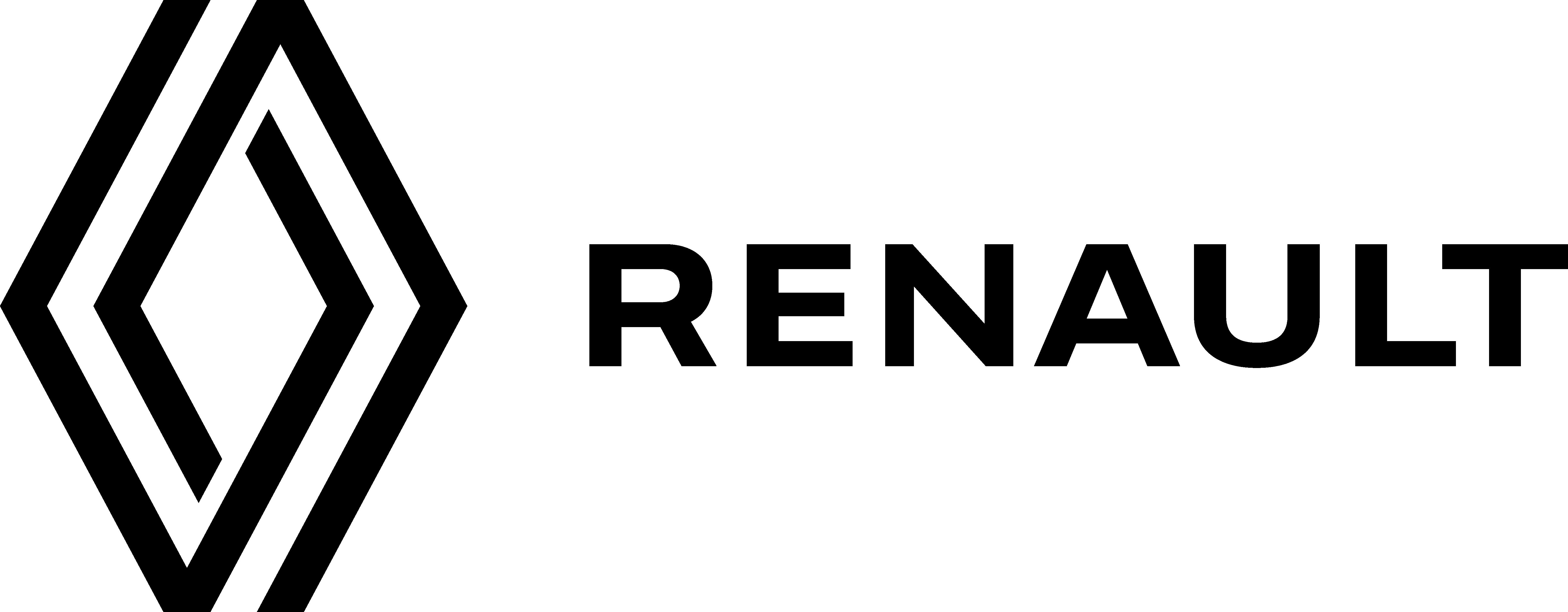 Logo da Renault com o nome da marca, por extenso, ao lado