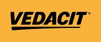 Retângulo amarelo com a palavra Vedacit em preto