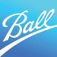 Imagem retangular com o fundo em tons de azul e no centro há a palavra Ball