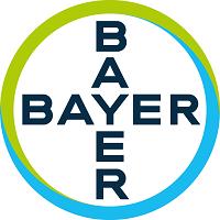 Palavra Bayer escrita na vertical e horizontal, sendo que a intersecção entre elas está na letra Y